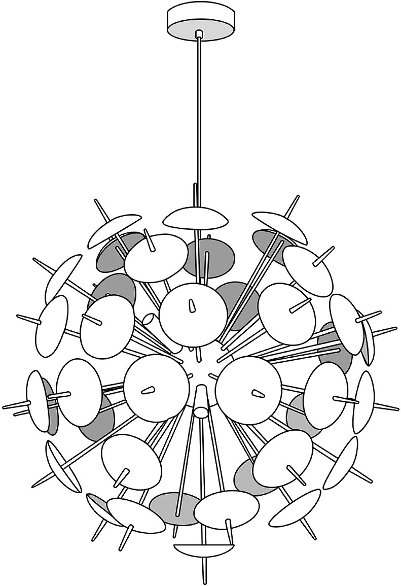 Dandy 12 light Pendant